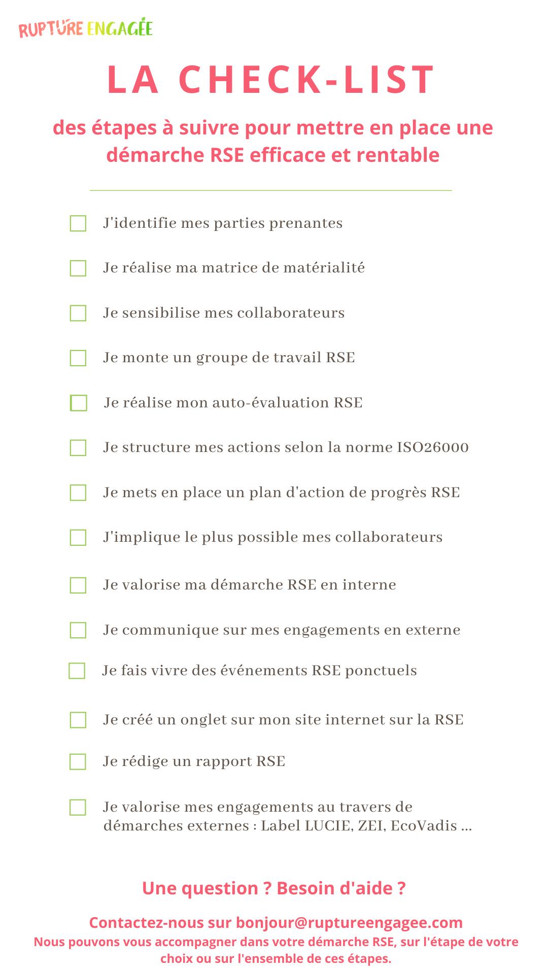 Check list RSE